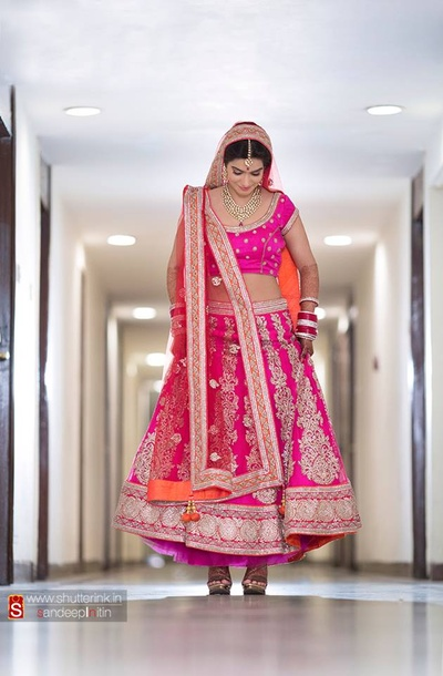 Elegant choice of color for the wedding lehenga for the marriage ceremony