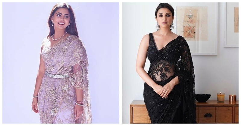 #TrendAlert – 5 Chantilly Lace Sarees that are Taking Over the Town
