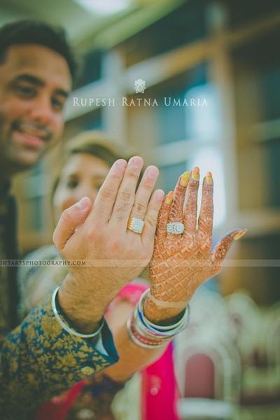 Diamond studded engagement rings