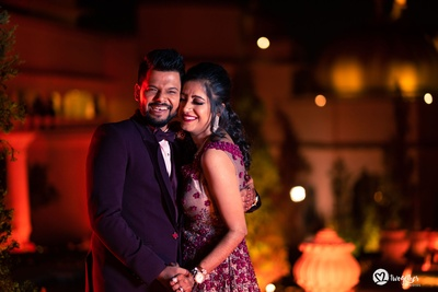 a happy moment perfectly captured at the sangeet ceremony