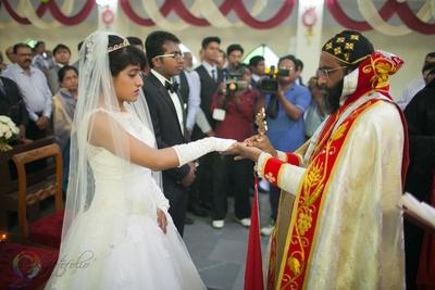 Roman christian wedding ceremony