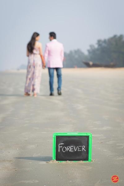 Prop used in pre wedding near the beach