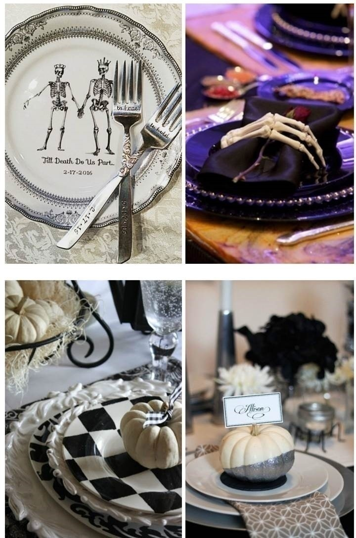 GOTHIC WEDDING TABLE SETTINGS