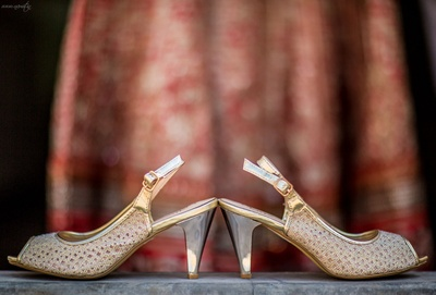 Bridal peeptoe sandals