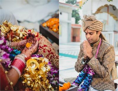 Wedding ceremony held at Karneshwar Temple, Karnal.