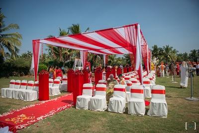 Beautiful beach venue by Royal Orchid Beach Resort at Goa