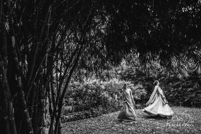 Pre wedding black and white bridal photography.