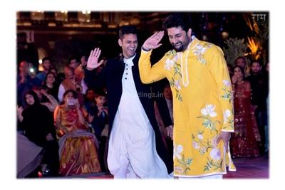Abhishek Bachchan dancing during the sangeet ceremony