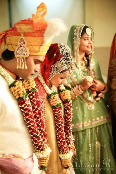 Rose and jasmine wedding garlands