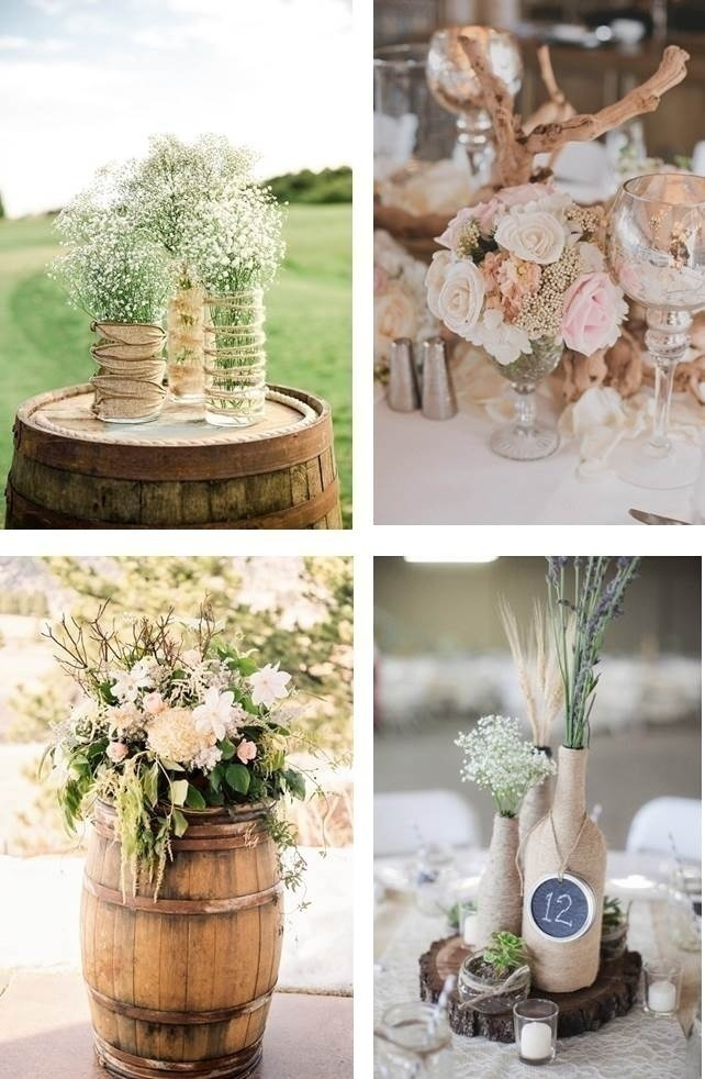 NEUTRAL WEDDING CENTERPIECES