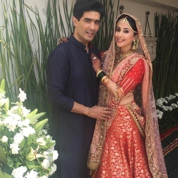 Urmila Matondkar Stuns in Manish Malhotra for her Wedding Day