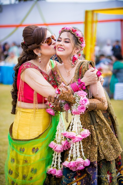 The little princess having a happy moment with her mother.