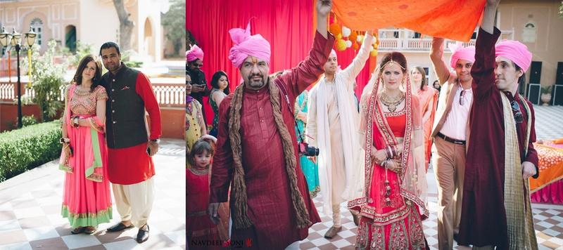 Pankaj  & Laurie Jaipur : Cross Cultural Marriage held at Chomu Palace, Udaipur
