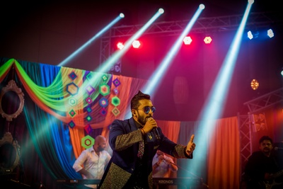 Musical performances by Indian singers at the sangeet function