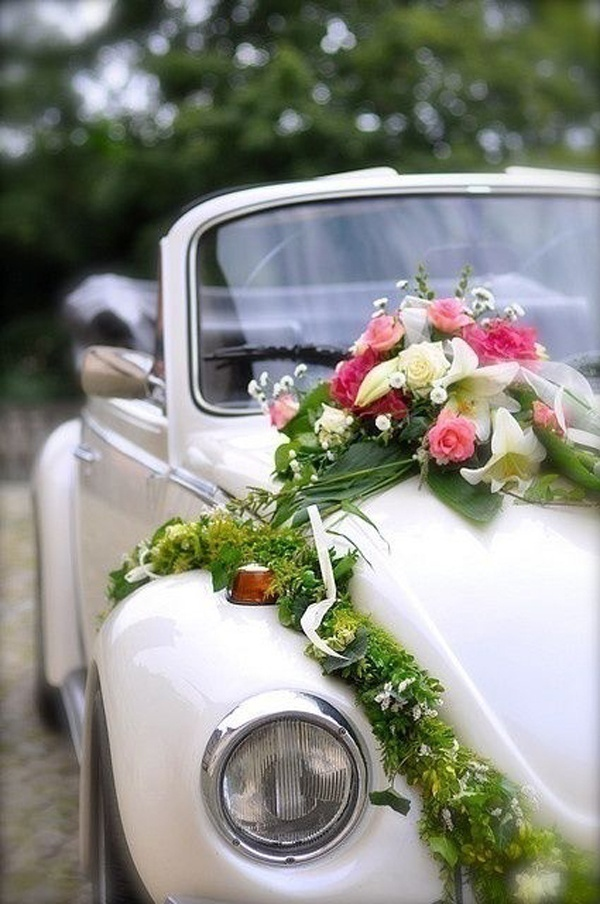 Indian wedding car decoration ideas that are fun and for Just married dekoration