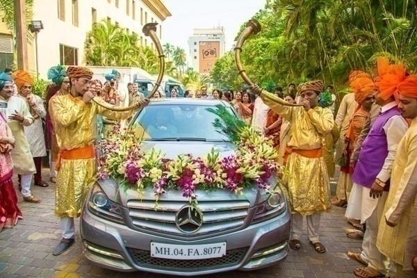 Bumper Frame Wedding Car Decorations