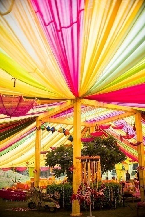 Vibrant Colours at The Scorpio Bride's Big Day