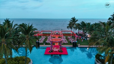 contemporary decor ideas for mehendi ceremony and pool party