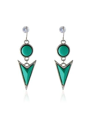 Spatial Sea Green Earring