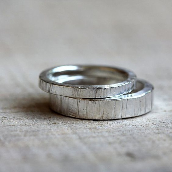 Rough Textured Wedding Bands