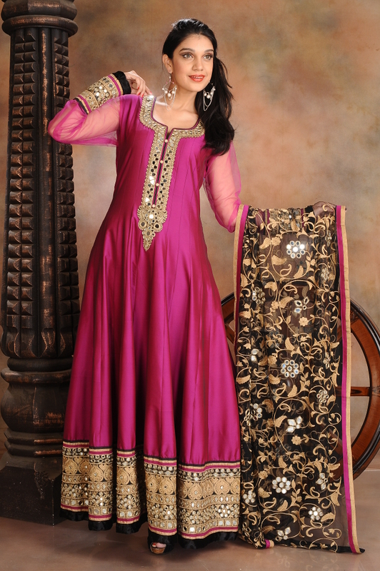 Buy Wine Mirror Work Salwar Suit Online | Salwaar Kameez | Womens Wear | Shop | WeddingZ