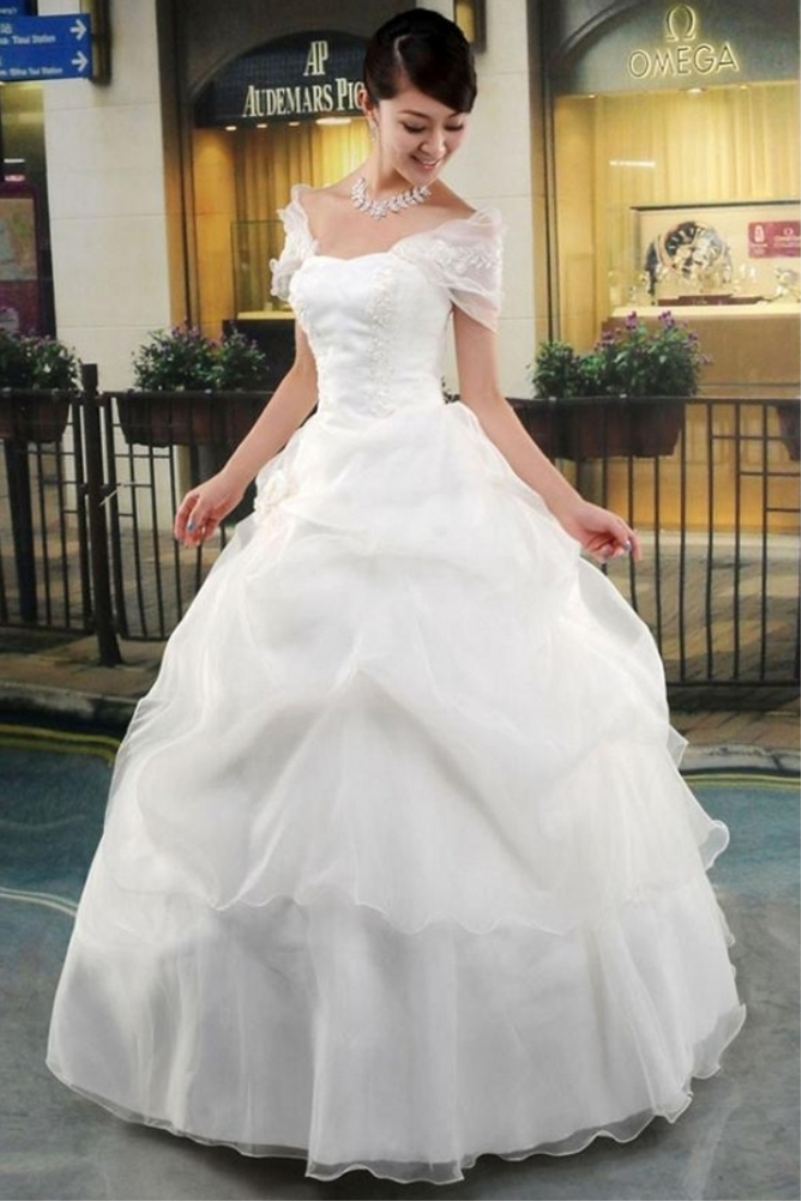 Buy Cinched White Wedding Gown online | Gowns | Womens wear | Shop ...