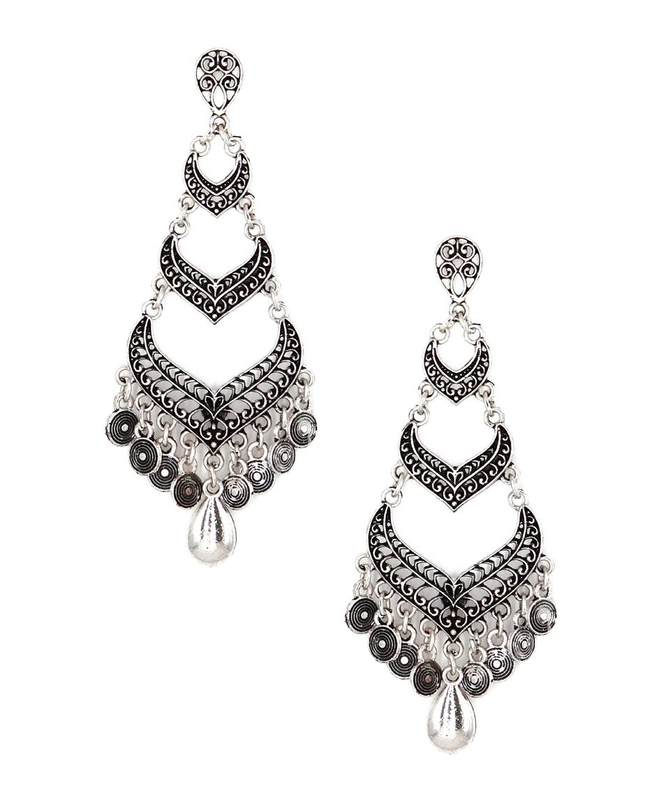Buy mad clozet silver oxidised chandelier earrings online earrings mad clozet silver oxidised chandelier earrings aloadofball Choice Image