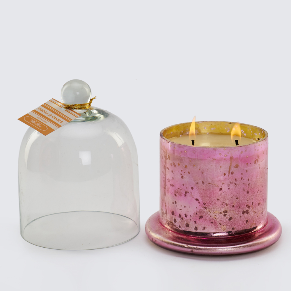 Buy veeda cloche jar candle online candle stands for Candele on line