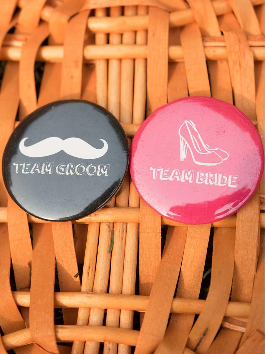 Buy Combo Wedding Badges- Team Bride & Team Groom online | Gift