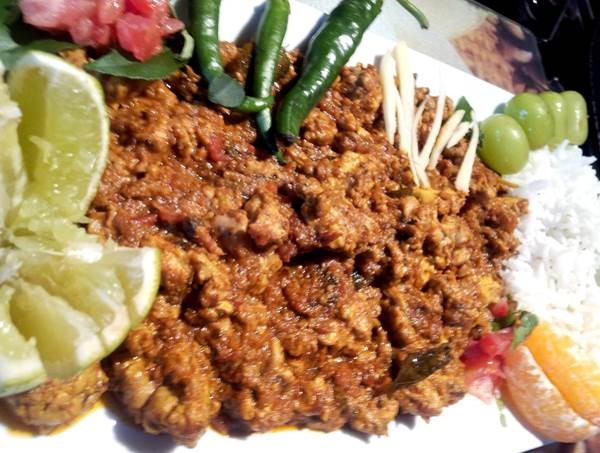 Bheja Fry means brain fry. The dish is made using goat brain and spices.