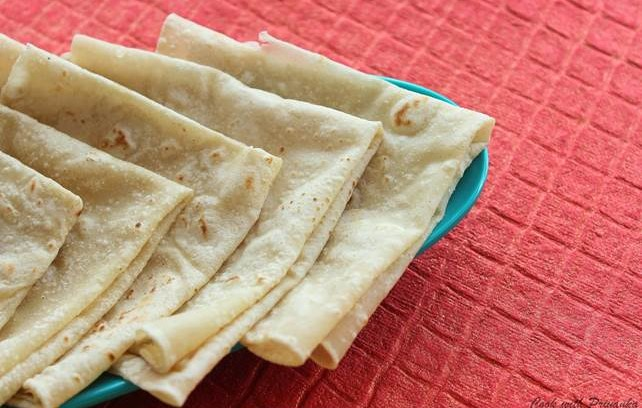 Rumali Roti is a flatbread that is popular in many Indian weddings.