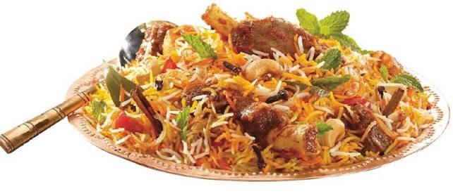 Shahi Mutton Biryani is a rice-based dish popular in Muslim marriage feast.