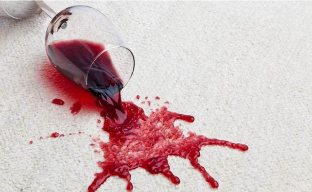Water-based stains like wine: DO NOT RUB as this will spread the stain. Dab gently with a moist cloth dipped in water or club soda. Once the wedding is over, take it to a dry cleaner's asap.
