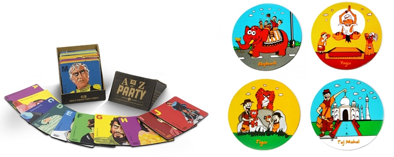 Quirky coasters