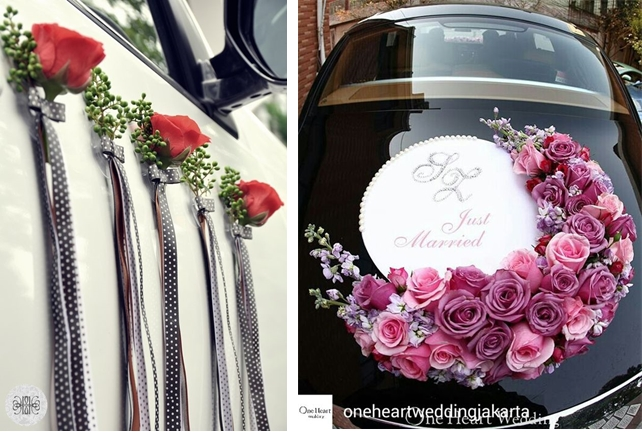 Stunning Wedding Car Decoration Ideas to Leave Your Wedding Venue In ...