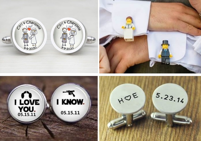 Personalised/Customised Cufflinks and Tie