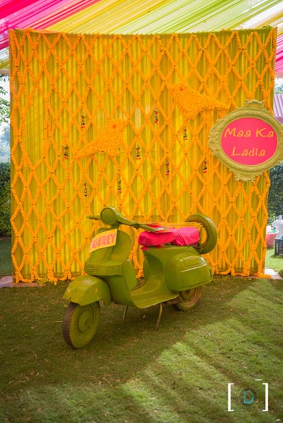 1. Marigold Flower Walls