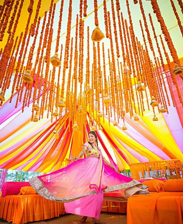 Indian Wedding Photography Ideas: 8 Cool Ways To Use Marigold Décor At Your Indian Wedding