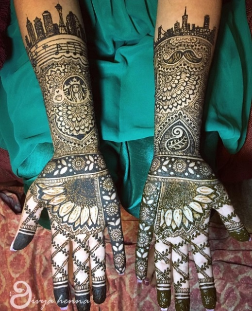 12 cool mehndi designs that every 2017 bride must check for Cool check designs