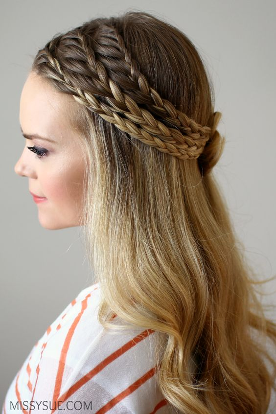 6 half up half down hairstyles to flaunt at a wedding mehndi or theres a video to help you do it yourself solutioingenieria Images