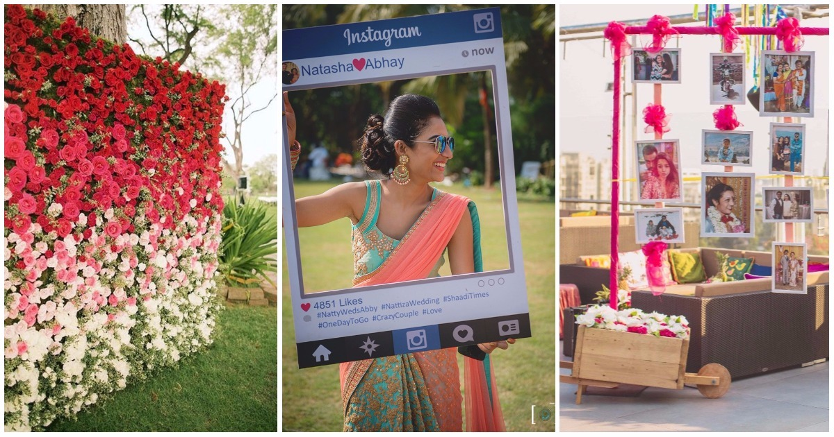 Wedding decor ideas suggestions wedding blog weddingz 10 pinterest y photobooth ideas for your indian wedding super cute super simple junglespirit Images