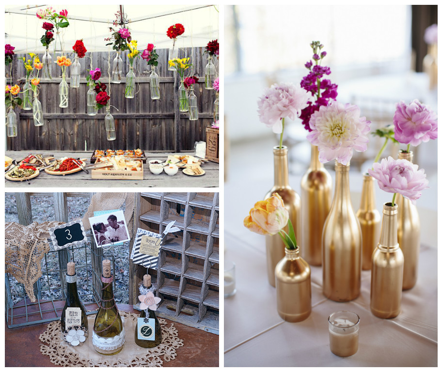 7 creative ways to use wine bottles as wedding dcor blog junglespirit Choice Image