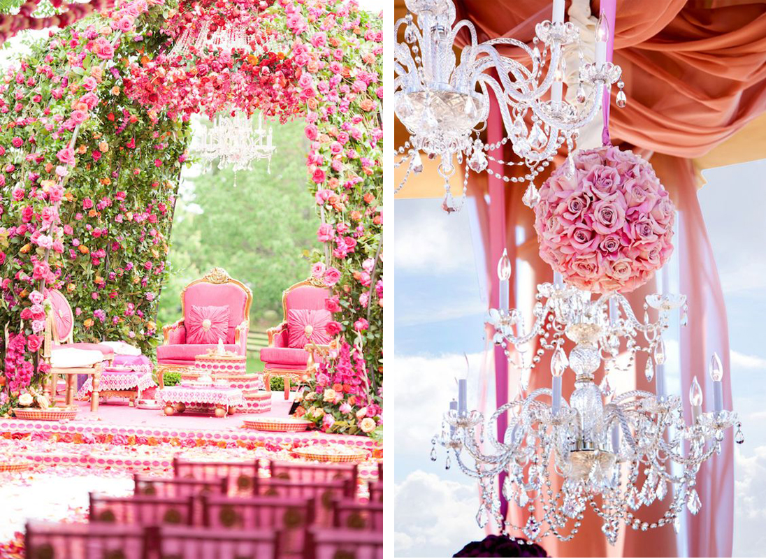 Modern Chandeliers a New Addition to Mandap Decoration for Weddings ...