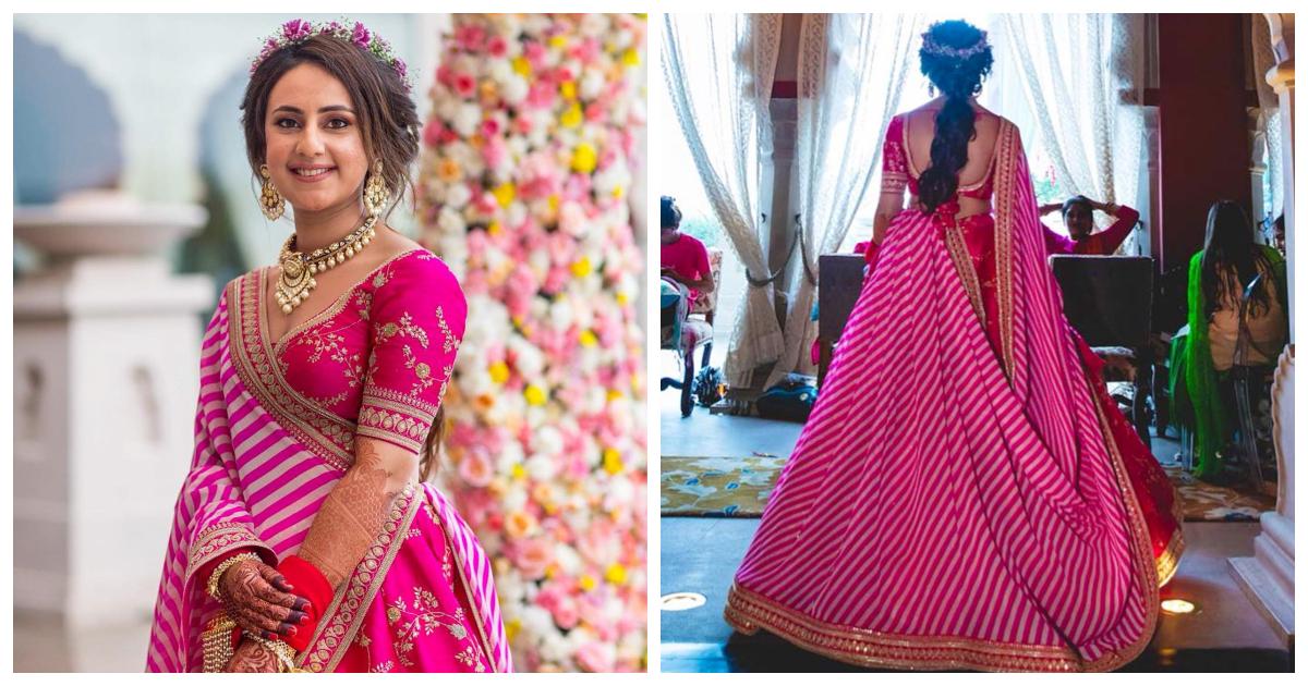 This Sabyasachi bride's Offbeat Mehendi look is breaking the internet!